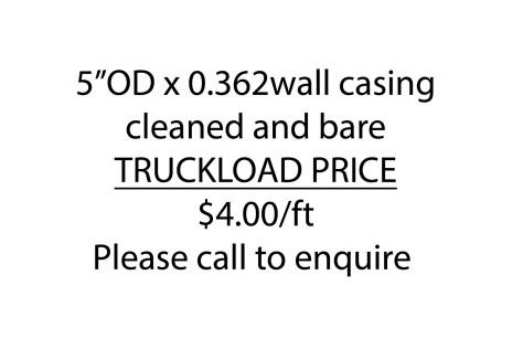 5OD x .365wall $4 per ft